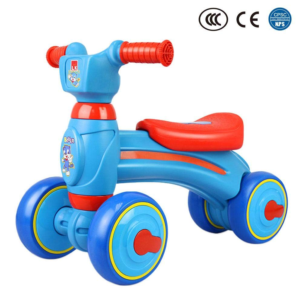 Big-time Baby Balance Bike, Mini Bike, Safe Sliding Bike Sliding Walking Learning Bike with 4 Wheels for 1-3 Years Old Girl Boy,Birthday Gift
