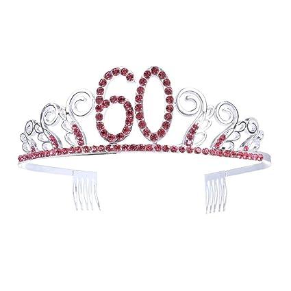 Diademas Mujer 60 cumpleaños cristal tiara reina princesa ...