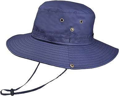 Aikowener Sombrero para el Sol Hombres Mujeres UPF 50+ Malla de ...