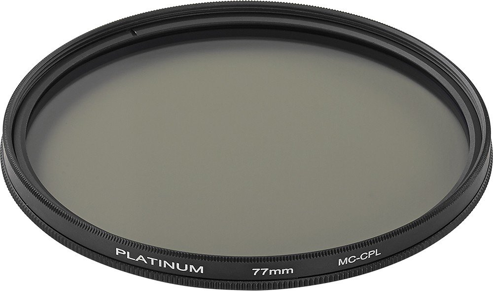 Platinum Series 77mm Circular Polarizer Lens Filter, Model: PT-MCCP77, Clear