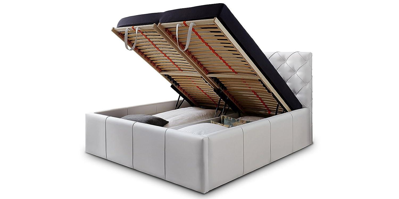 polsterbett bettkasten trendy polsterbett mit bettkasten mit dekoration nachttisch rund wei und. Black Bedroom Furniture Sets. Home Design Ideas