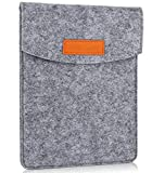 ProCase 6 Inch Sleeve Case Bag, Portable Felt Carrying Pouch Protective Cover for 5 - 6'' Inch Tablet Smartphone E-Reader E-Book -Grey