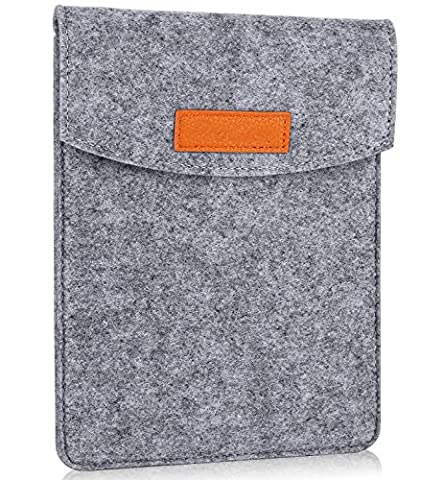 ProCase 6 Inch Sleeve Case Bag, Portable Felt Carrying Pouch Protective Cover for 5 - 6