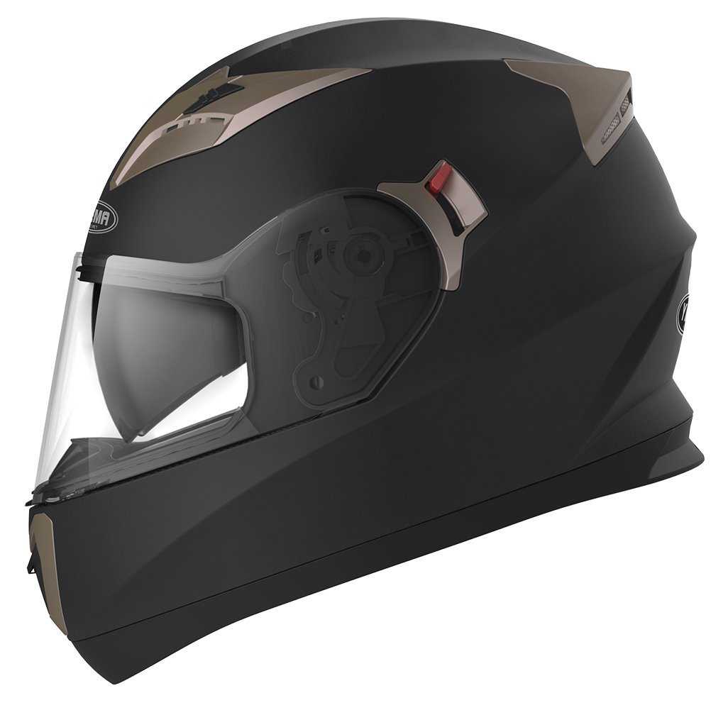 YEMA Motorradhelm Integralhelm Rollerhelm Fullface Helm YM-829 Sturzhelm ECE mit Doppelvisier Sonnenblende fü r Damen Herren Erwachsene-Weiß -M Lanxi Yema Motorcycle Fittings Co. LTD YM-829WM