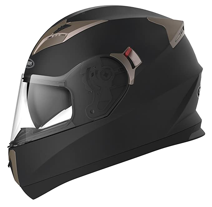 Amazon.es: YEMA Casco Moto Integral ECE Homologado YM-829 Casco de Moto Scooter para Mujer Hombre Adultos con Doble Visera -Negro Mate-XL