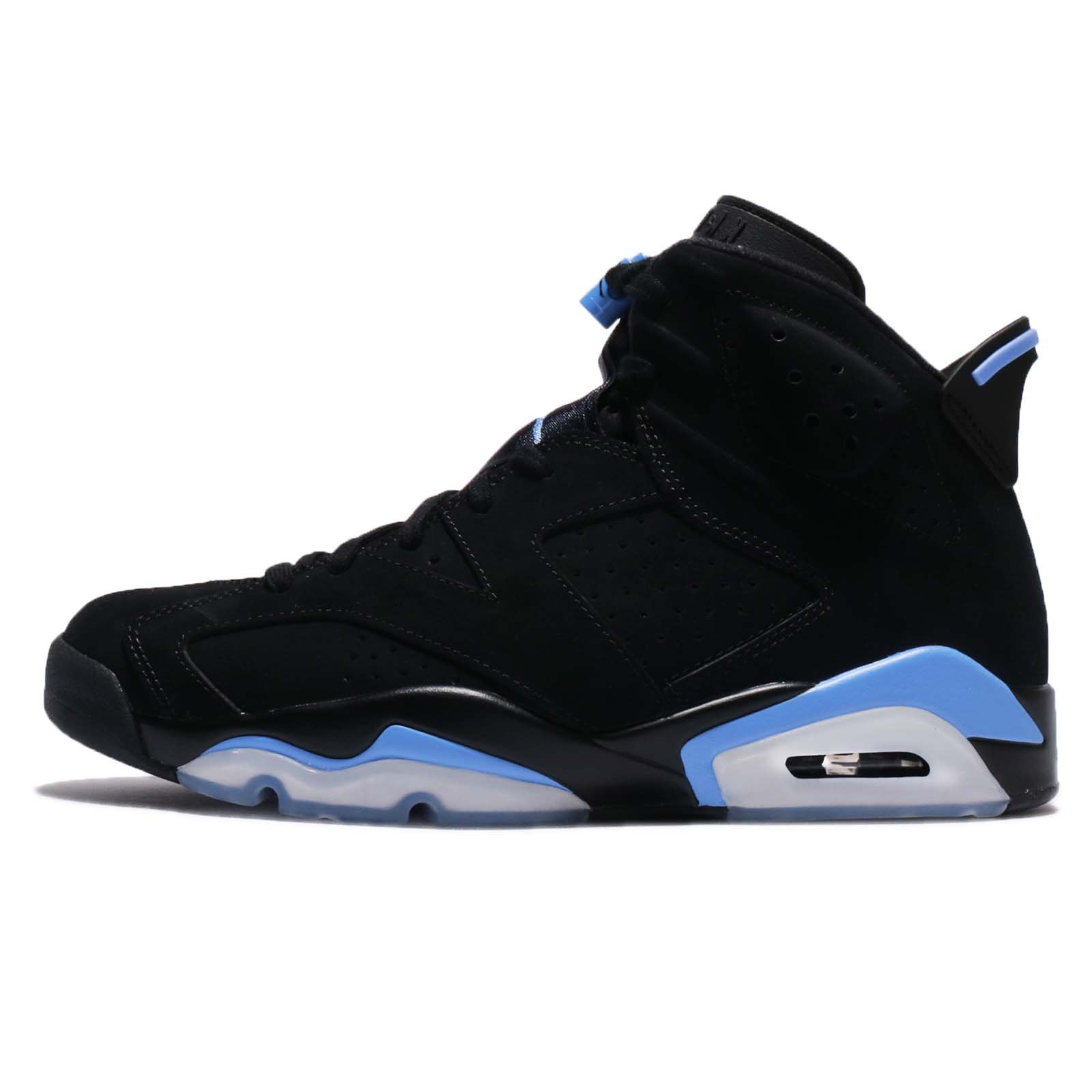 Jordan Retro 6'' UNC Black/University Blue (9.5 D(M) US) by Jordan