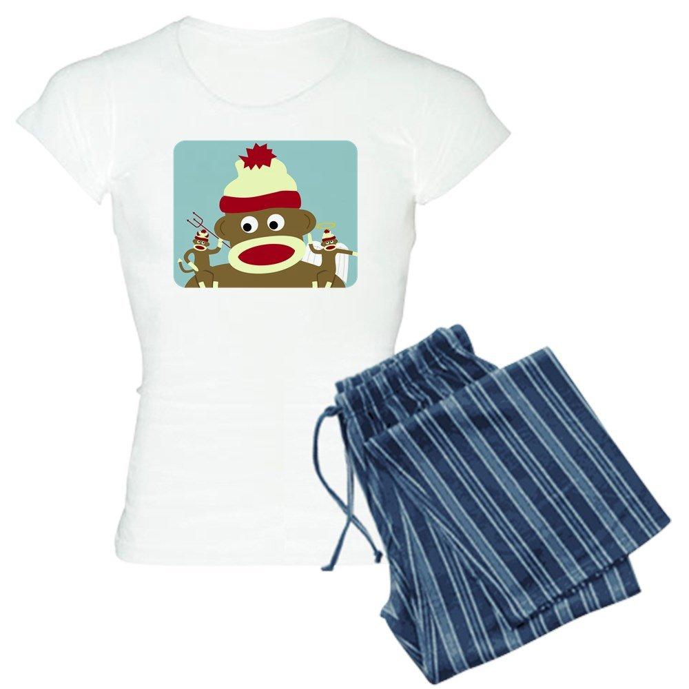CafePress - Sock Monkey Angel & Devil - Womens Pajama Set