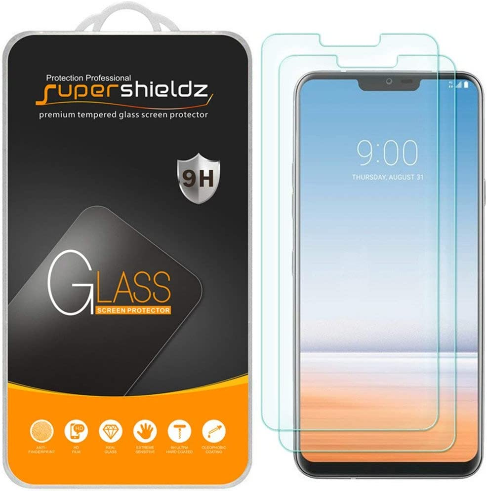 (2 Pack) Supershieldz for LG G7 ThinQ Tempered Glass Screen Protector, 0.33mm, Anti Scratch, Bubble Free