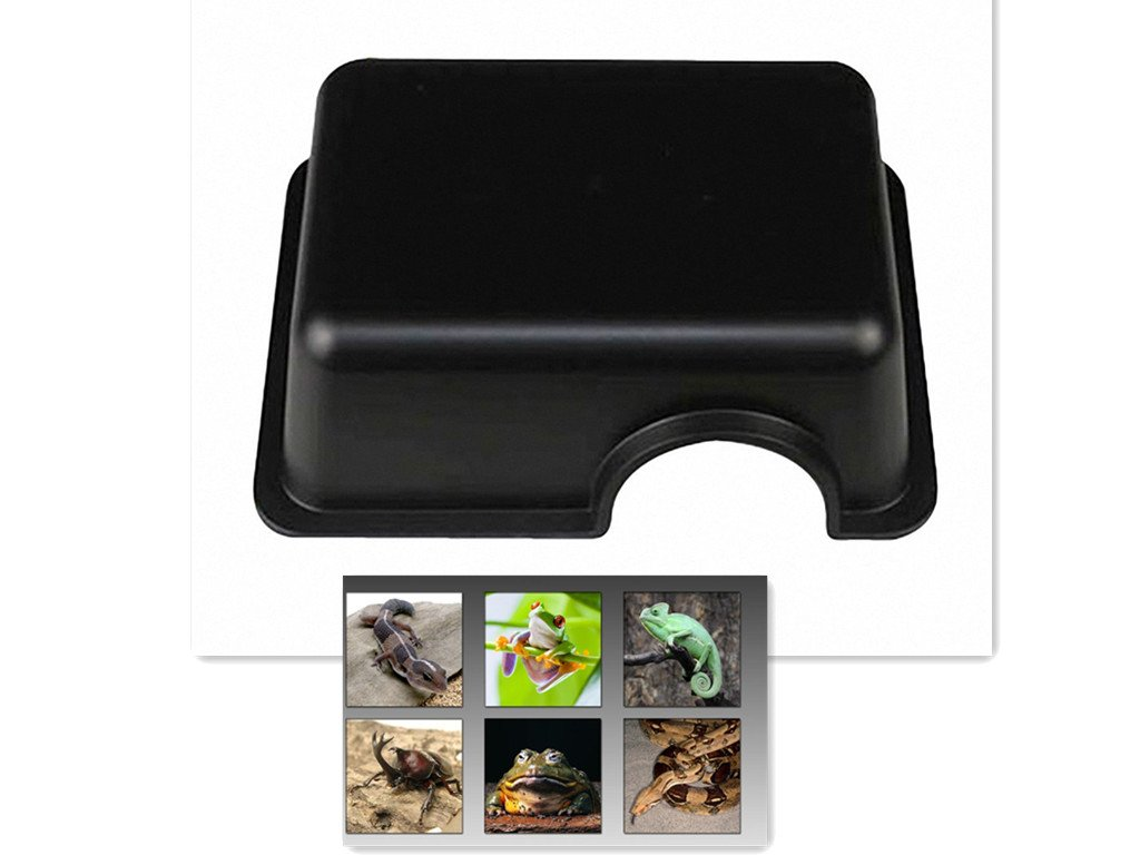 Hides with Texture Help Peeling Leopard Gecko for Snakes Reptile Hide Box Small Animal Hideaway Lizards M1