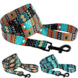 CollarDirect Nylon Dog Leash 5ft Tribal Pattern Durable Walking Pet Leashes for Dogs Small Medium Large Puppy (Pattern 2, L)