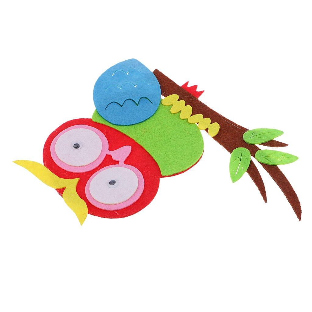 Loisirs créatifs homyl hibou autocollant adorable eva mousse décoration pour mur chambre enfants