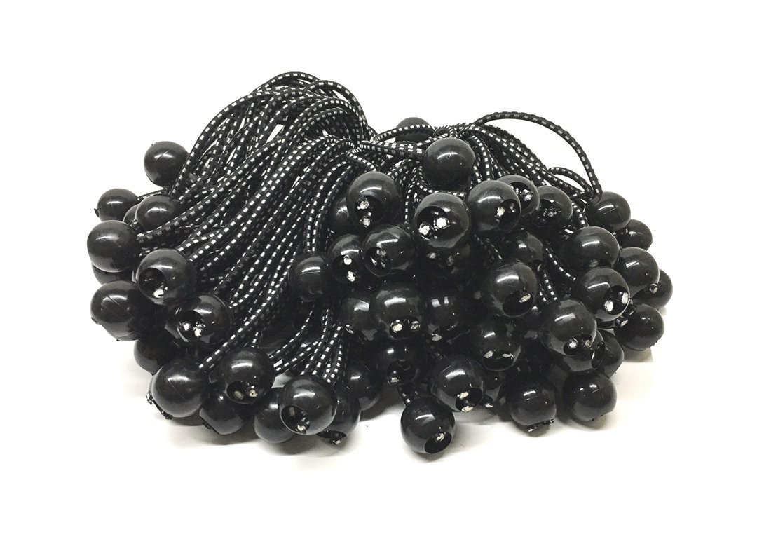100 Piece Bungee Cord Tie Down Plastic Toggle Balls Straps CHINA. 6-Inch Ball Bungee