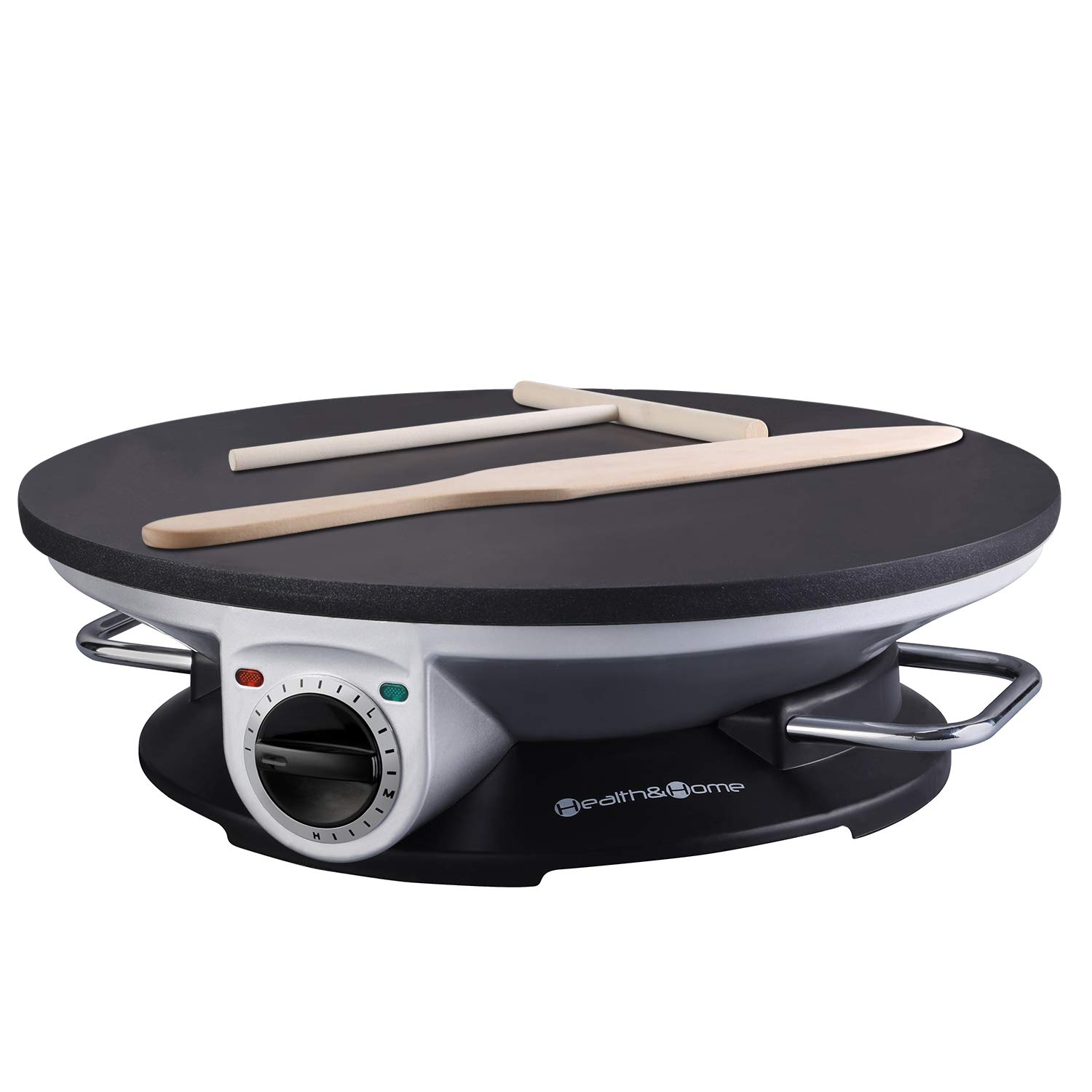 Health and Home No Edge Crepe Maker - 13 Inch Crepe Maker & Electric Griddle - Non-stick Pancake Maker- Waffle Maker- Crepe Pan by Health and Home   B017I5K26G
