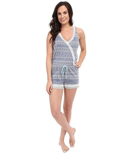 87815510b12b P.J. Salvage Women s Miss Matched Sleep Romper Denim Pajama Set XS (US ...
