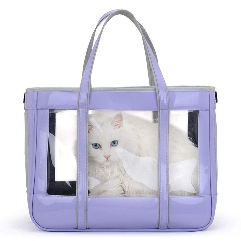 Gato XXDYF Transport/ín para Perros Y Gatos Portador del Animal Dom/éstico Transparente Transport/ín Bolsa Bolso de Tela para Perro Mascotas