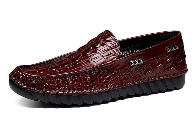 Hombres SlipOn Oxford Zapatos Loafer Loafer Loafer nueva patrón de cocodrilo de 641b9e