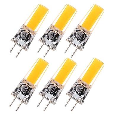 GRV GY6.35 COB 2508 4 W DC12 ~ 24 V Schrank LED Silikon Licht Kristall 35 W Leuchtmittel Halogen Track Ersatz, warmweiß, 6 St