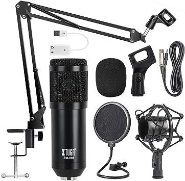 Amazon.com: OWLVIEW Micrófono Condensador BM800 Profesional ...