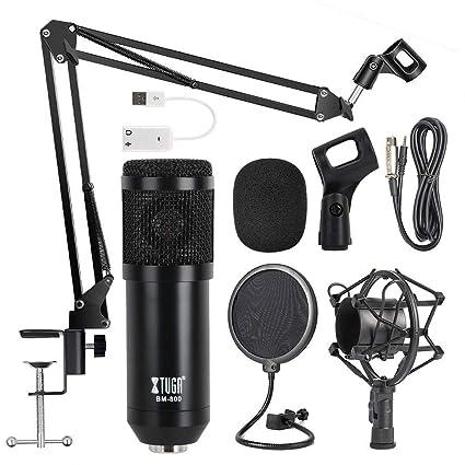 Micrófono de condensador OWLVIEW BM800 para estudio profesional ...