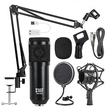 Micrófono de condensador OWLVIEW BM800 para estudio ...