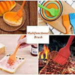 Silicone Basting Brush Pastry Brush Set (Set of 4), Heat Resistant Brush and Dishwasher-safe Perfect for Cooking, Baking, Grilling, Basting and Marinating- Colourful 13 Basting Brush Set: Whether baking, grilling, basting and marinating, barbecue and family gatherings, silicone oil brush a large and a small, fully meet the cooking needs. 100% Food Grade Silicone: The brushes are made with a high performance 100% food grade silicone, with a steel core inside, FDA approved & BPA free. Don't Need to worry about toxins leaching into your food. Heat Resistant Brush: It can withstand heat up to 600 degrees Fahrenheit. It is safe to use for BBQ, baking, even cooking in a frying pan.