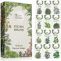Kräuter Samen Set von OwnGrown, 12 Sorten Küchenkräuter als praktisches Kräutersamen Set, Gewürzsamen und Kräuterset für...