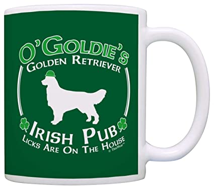 Amazon Com Dog Owner Gift St Patricks Day Golden Retriever Irish