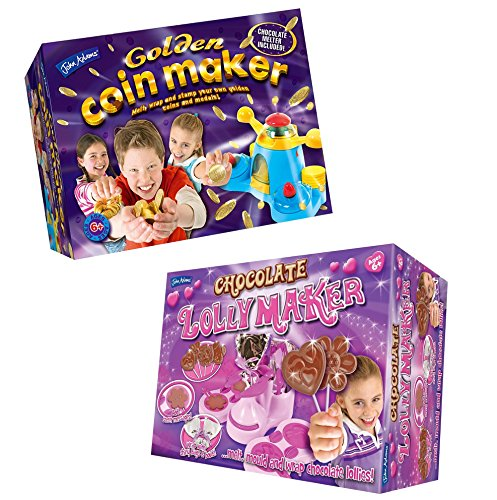 John Adams Golden Coin Maker And Chocolate Lolly Maker Pack