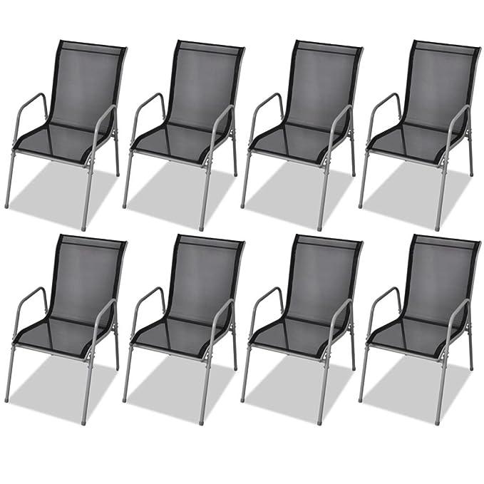 vidaXL 9-tlg. Gartenmöbel-Set Essgruppe Sitzgruppe Sitzgarnitur ...