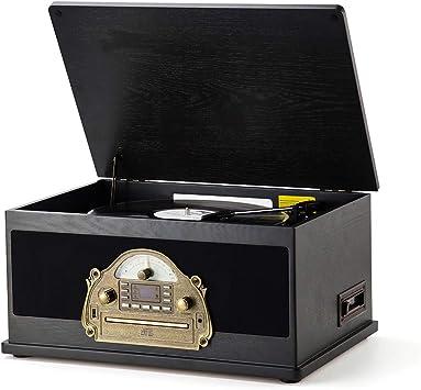 Amazon.com: RCM MC-263 Retro LP Centro de música 6 en 1 de ...