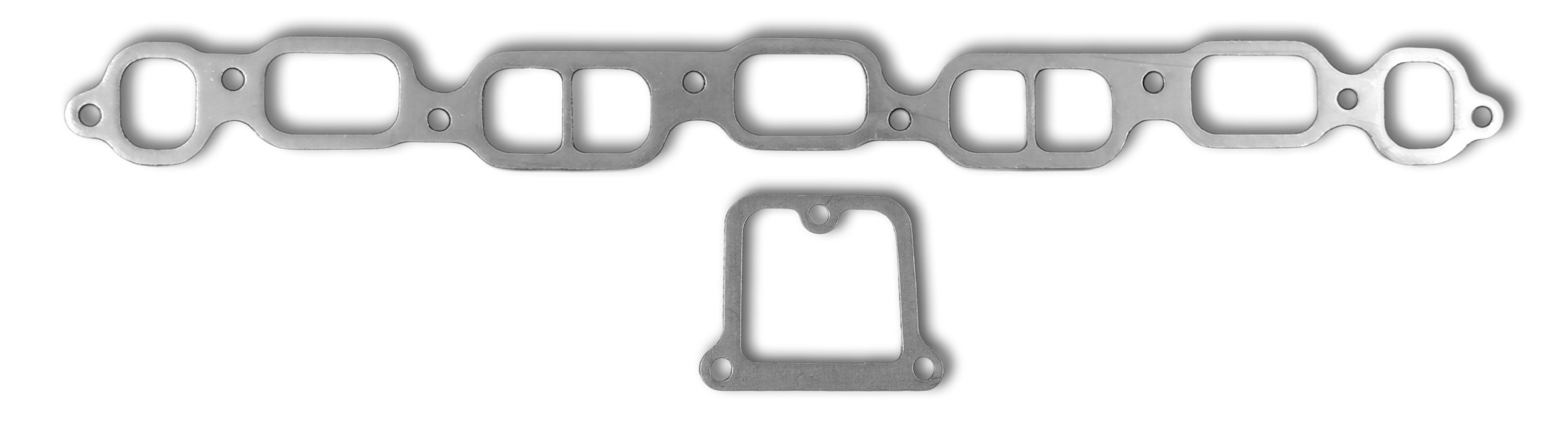 Remflex 2034 Exhaust Gasket for Chevy L6 Engine, (Set of 2)