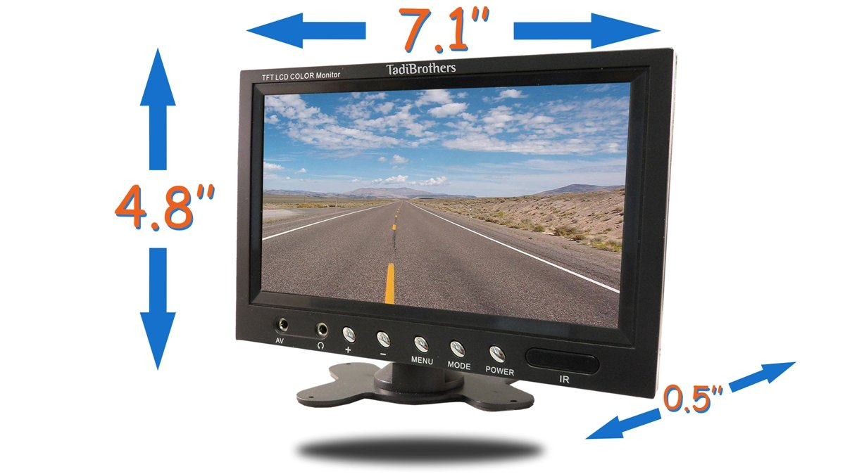 Amazon com: TadiBrothers 7 Inch Color Monitor Dual Parking