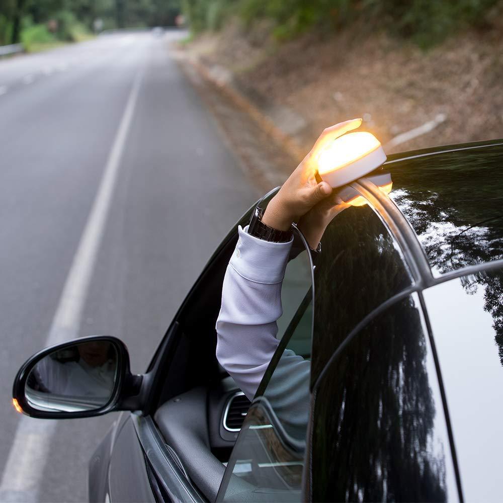 Se/ñal v16 de prese/ñalizaci/ón de Peligro homologada DGT 3 Luz de Emergencia aut/ónoma NK Help Flash Pack Asistencia en Carretera Tri/ángulo Reflectante Chaleco de Seguridad Reflectante
