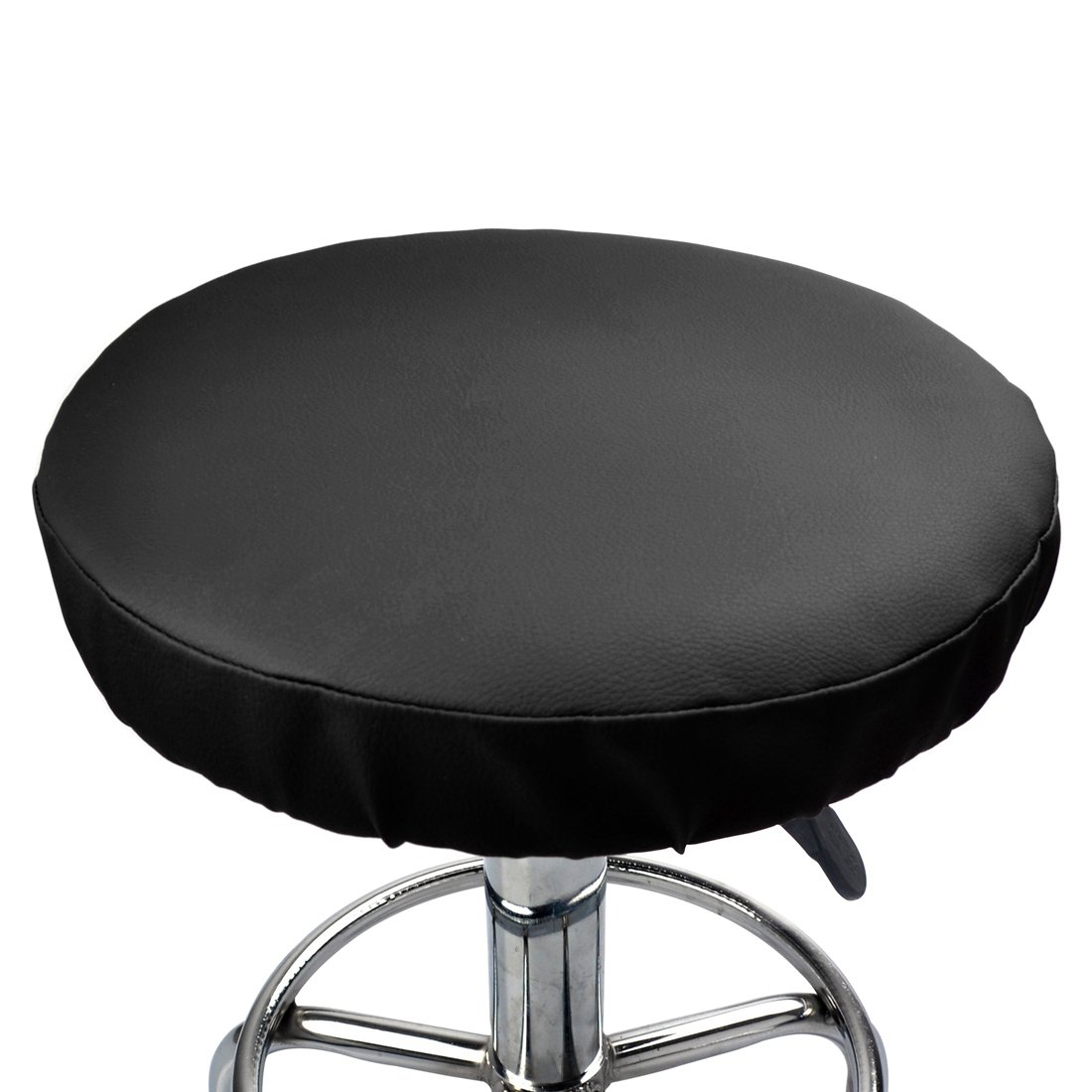 Jinshou 2PCS Round Bar Stool Cover Faux Leather Seat Cushion Home Office Chair Pad Protector Cover Slipcover 11.8inch