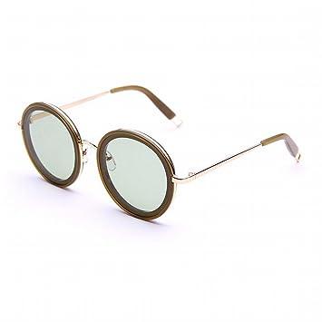 YL Gafas de Sol Al Aire Libre Mujer Océano Película Gafas Miopía Marco Redondo Gafas de