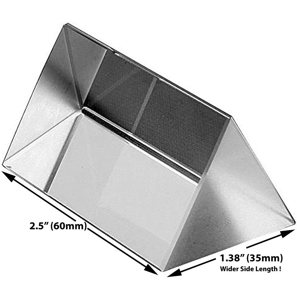 Amlong Crystal 2.5 inch Optical Glass Triangular Prism for Teaching Light Spectrum Physics and Photo Photography Prism, 60mm