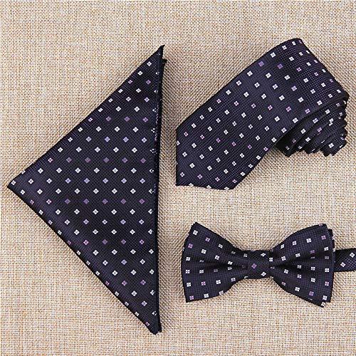 amp; Affari Farfalla Colori A Cravatta Disponibili Stile Uomo Casuale Vari Quadrata 9 Tasca Floreale Bozevon 3 Set Pezzi 0Rwgdqg