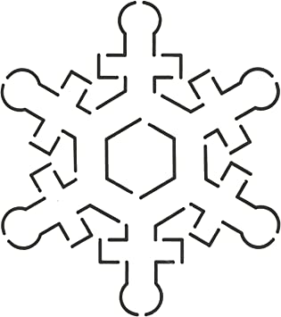 4-3//4 x 5-1//4 Quilting Creations Snowflake Quilt Stencil