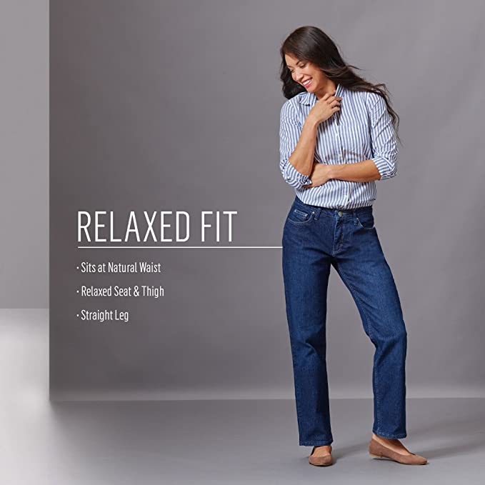 8fc5bc89 Riders by Lee Indigo Women's Relaxed Fit Straight Leg Jean at Amazon Women's  Jeans store