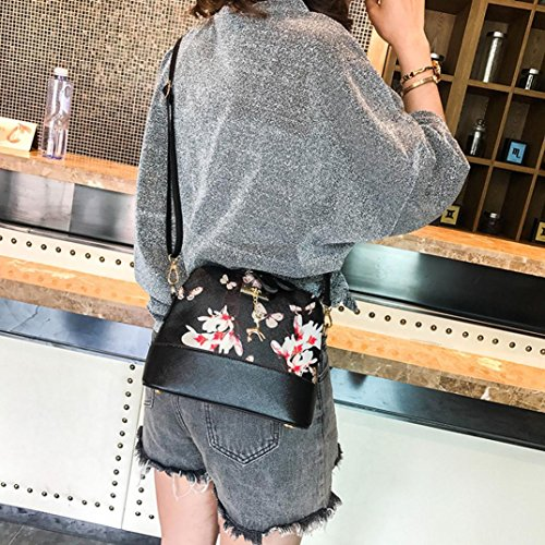 Crossbody Bags Bag Bag Printing Leather Small Black Womens Messenger Luoluoluo Shoulder Deer 8wvEq8R