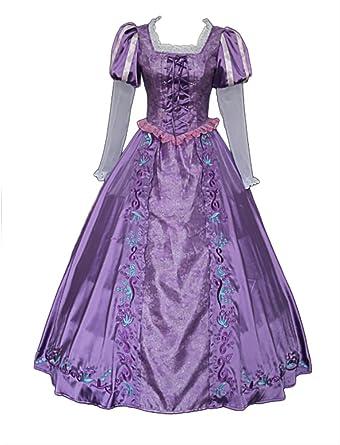 Amazon Com Cllmkl Tangled Costume Adults Princess Rapunzel Dress