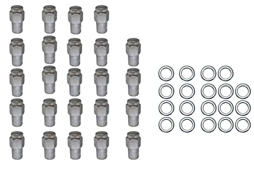 24PC CHROME 7//16-18 OPEN END LUG NUTS FIT CLASSIC CHEVY IMPLALA CHEVELL MORE