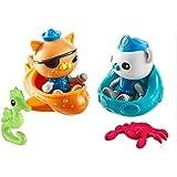 Octonauts Explore & Rescue Figure Pack Playset - Kwazii, Barnacles & Creatures
