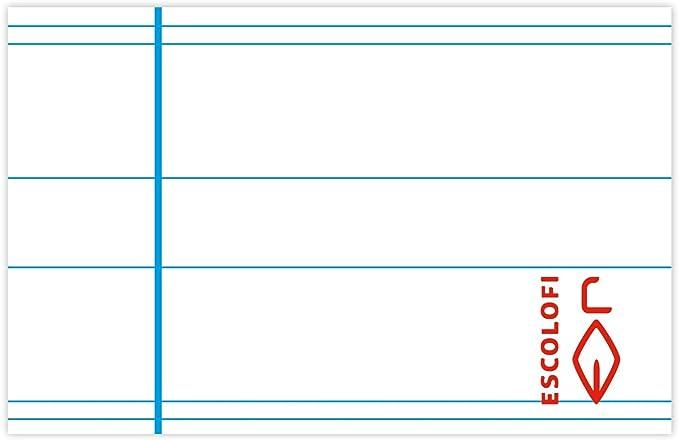 Escolofi Pack de 3 libretas de espiral de 80 hojas de 90 gr/m2 DIN A5 Plus Montessori 5 margen color rojo: Amazon.es: Oficina y papelería