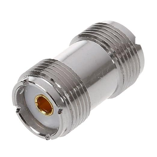 SODIAL(R) 2 x Conector Adaptador Coaxial S0-239 UHF Doble Hembra: Amazon.es: Electrónica