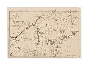 Amazon.com: 1757 Map United States| Canada| New York| New England of ...