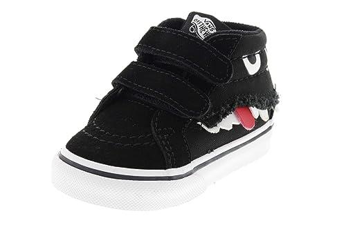 cb441bdf5029e Vans Kids Shoes - SK8-MID Reissue V Monster Face Black  Amazon.co.uk ...