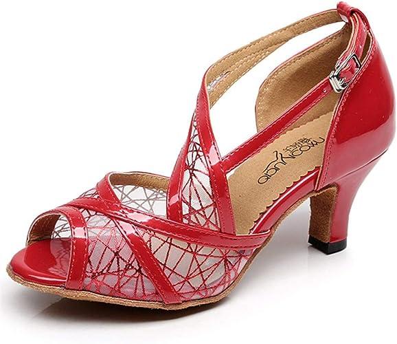 hccy scarpe da ballo per adulti latino con tacco alto e scarpe rosse da ballo amazon it scarpe e borse hccy scarpe da ballo per adulti latino