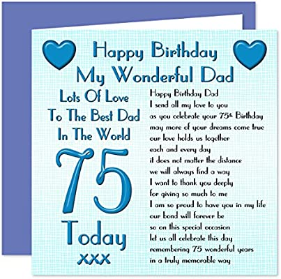 Dad 75th Happy Birthday Card