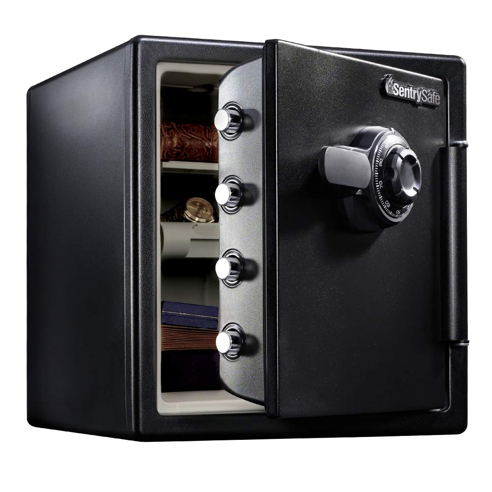 SentrySafe SFW123CU Fireproof Safe and Waterproof Safe with Dial Combination 1.23 Cubic Feet